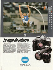 Publicité ancienne appareil photo Minolta  1982 issue de magazine