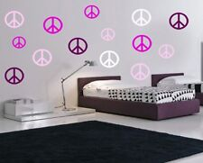 96 PEACE SIGNS  VINYL WALL DECALS STICKERS  ROOM DECOR 4 COLORS  BEDROOM KIDS
