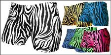 """NEW GemGear Womens 2 1/2"""" Zebra Spandex Volleyball Shorts, Available in 5 Colors"""