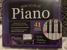 How to Play Piano Kit 41 Piano Clings Learn Piano Playing Basics Booklet Songs