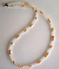 Kette mit Morganit und Süsswasser Perlen - 50 Karat - 44 cm - 925er Silber