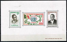Mali African Country Leaders Flag Map Birds Souvenir Sheet Mnh 1960