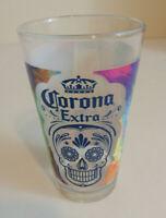 Corona Extra Pint Pub Glass dia de los Muertos Day of the Dead Sugar Skull