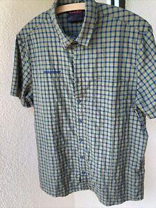Super Kurzarm Hemd Shirt MAMMUT Mehrfarbig Kariert Gr.L neuwertig