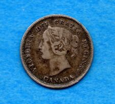 Canada 1889 5 Cents Five Cent Small Silver Coin - Very Fine