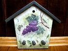 Wooden Wall 3 Hook Key Holder Storage Organizer Decorative Grape Hanger Mounted