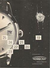 vintage 1958 print ad AUREOLE Swiss Suisse watch movement MID CENTURY ART