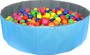 Click N' Play Kids Ball Pit Foldable Play Ball Pool With Storage Bag. Blue