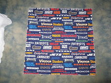 ALL NFL TEAMS HEAD BANDANA - CHEERING CLOTH APPROX 22 1/2 ""