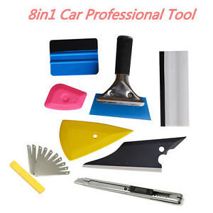 Universal 8x Squeegee Car Window Tinting Film Wrapping Install Applicator Tools