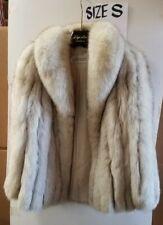 ANTONOVICH Luxurious Real Blue Fox Fur Jacket Size Small FINLAND