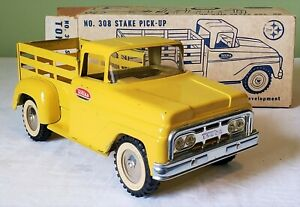 Early Tonka Toys Ford Cab STAKE PICK-UP TRUCK NO 308 - 1962 NMINT SUPER RARE BOX