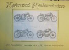 Motorrad Meilensteine - 4 Kunstblätter Krackowizer Sunbeam Norton AJS Velocette