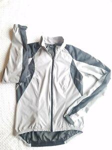 Gore Bike Wear Womens Windstopper 100% Nylon Grey and Black Jacket Small