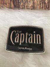 The Captain Morgan Rum Black Metal Belt Buckle Pants Jeans Men's Ladies Enamel