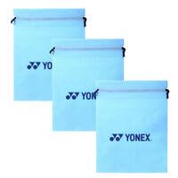 YONEX Shoes Bag Tennis Badminton Gym Sports Racket SKY Blue 30cm x 40cm 3 PCS