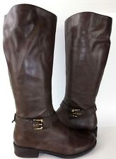 d44667f5a965 Me Too DEEDEE Womens Boots Tall US 9 M Brown Leather Riding 503