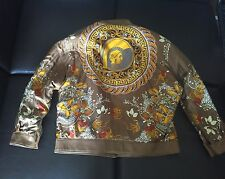 GIANNI VERSACE Leather Silk Reversible Jacket