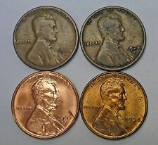 {BJ Stamps} 1926s 1928s 1937s 1938 LINCOLN Wheat Cent Lot of 4 NICE group