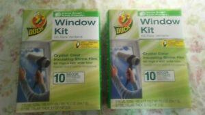 Duck 10 Pk Window Kit Lot Of 2