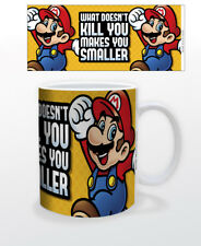 SUPER MARIO WHAT DOESN'T KILL YOU MAKES YOU SMALLER 11 OZ MUG NINTENDO GAME COOL