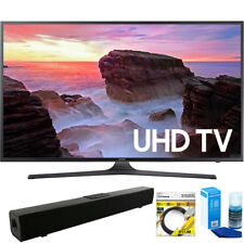 "Samsung 65"" 4K HDR Ultra HD Smart LED TV 2017 Model + Bluetooth Sound Bar Bundle"