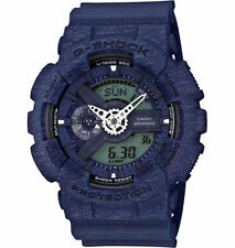 Mens Casio G-Shock Heather Blue Rubber Digital Chronograph Watch GA110HT-2A