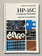 Owner's Manual for Hp-16C Scientific Calculator