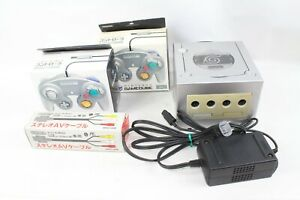Nintendo Game cube GC Console DOL-001 silver Tested  working japan