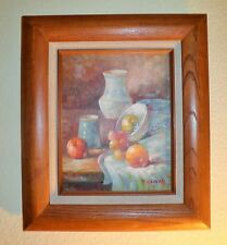 SOUTHWEST STILL-LIFE IMPRESSIONISM IN ORIGINAL FRAME OIL PAINTING~ ARTIST SIGNED