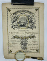 Beautiful Antique 1901 Holy Matrimony Marriage Certificate Chicago IL Unframed