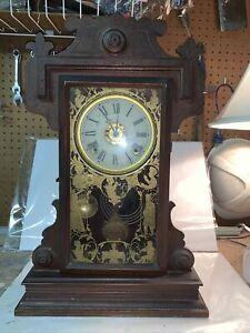 E.N. Welch Gingerbread Clock Parts Or Repair