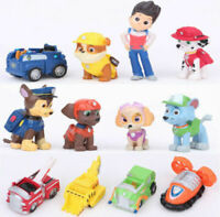 Paw Patrol Rescue Dog Figure Dolls Set Toys PVC Sliding Select Figure Gift 12PCs