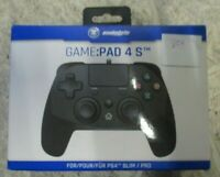 PS4 GAME:PAD 4 S Pad 4s Touch Pad Vibration 3m Kabel PS4 schwarz SNAKEBYTE