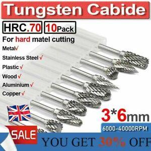 Carbide Burr Die Grinding Shank Tungsten Rotary Drill Set Metal Carving Bit Tool
