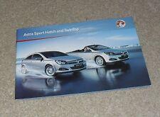 Vauxhall Astra H Sport Hatch & Twintop Brochure 2010 1.8 1.9 CDTI SRI XP Design