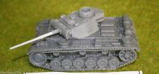 SCALA 1/48 – 28 mm WW2 Tedesco Panzer III AUSF. L resina Tank una BLITZKRIEG Miniatures