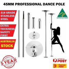 45mm Professional Dancing Pole Dance Fitness Portable Static Stripper Spinning