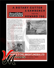 Howard Clifford - Rotary Cutter & Sawbench for 700 - Brochure
