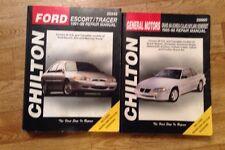 Automotive Repair Manuals Ford Escort / Tracer General Motors Grand Am Calais