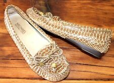 Michael by Michael Kors Snakeprint Leather Loafers Size 6 M Moccasin Shoes