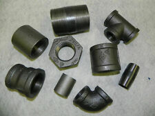 "BLACK MALLEABLE IRON PIPE FITTINGS BSP 1/8"" - 4"" - NEXT DAY DELIVERY"