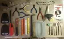 Make Offer Antique Junk Drawer Estate Auction Tools Silver Plate Household Items