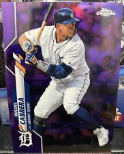 2020 Topps Chrome Miguel Cabrera Purple Refractor  242/299 Detroit Tigers