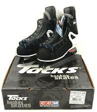 New In Box Ccm Tacks Pro Lite 3 Mens Leather Hockey Skates Black White (Size: 5)
