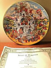 """""""Sense of Purpose"""" Cat Plate by Bill Bell Franklin Mint Limited Edition"""