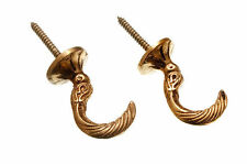 NEW CURTAIN TIE HOLD BACK HOOKS EGYPTIAN SOLID BRASS 45MM  (QTY OF 100 pairs )