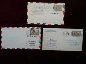 3 Early Canadian Air Mail Covers, All Postmarked 1928