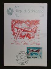 SAN MARINO MK 1963 FLUGZEUGE AVIATION MAXIMUMKARTE MAXIMUM CARD MC CM c8426