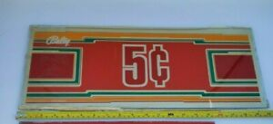BALLY'S Slot Machine Panel Glass 5 Cents 1983 G387-232